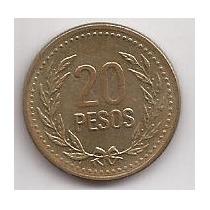 Colombia Moneda De 20 Pesos Año 1994 !!