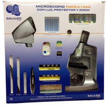 Microscopio Con Luz Y Proyector 1200 Ampliaciones¿ En Smile