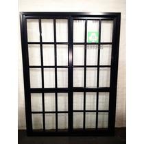 Ventana Aluminio Negro .balcón Rep 180x200 Puertas Aberturas
