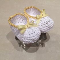 Escarpines Artesanales Tejidos Al Crochet - Ideal Regalos