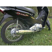 Escape Deportivo Molina - Honda Biz 125 -cromado Completo