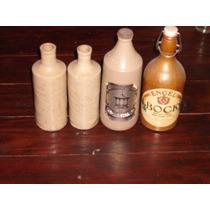Botellas Antiguas De Ceramica, Oferta Combo $ 400
