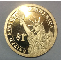 Moneda 1 Dólar Prsidente W. Harding. Baño Oro