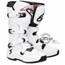 Bota Motocross Enduro Alpinestars Tech 3 Blanca Moto Sur