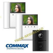 Kit Portero Visor Commax Lcd 4 Con 2 Visor Visores Cdv43k