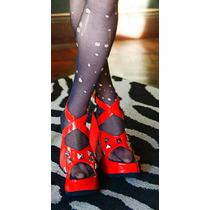 Zapatos Con Plataforma 10 Cm Cuero Ecológico T 39 Koturno