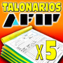 5 Talonarios Facturas - Afip - Resp Inscrip - Envio Gratis