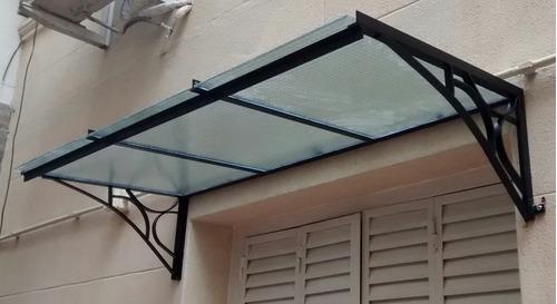 Alero con policarbonato techo para puerta en venta en - Como instalar un techo de policarbonato ...