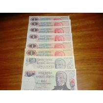 6 Billetes Argentinos S/c Varios Valores - Excelentes.