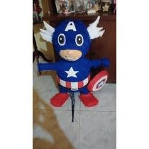 Piñata Super-héroes,capitán América,hombre Araña,hulk Y Mas
