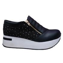 Zapatilla Sneakers Con Plataforma Ultima Moda - Local Once!
