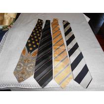 Lote De 4 Corbatas, Versace, Cristian Dior,