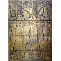 Coronacion Del Faraón Escultura Mural Historica