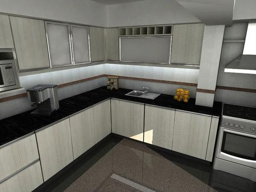 Arquiycarpinteros muebles amoblamiento de cocina placares - Pintar muebles de melamina fotos ...