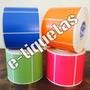 Rollo Etiquetas Autoadhesivas Color 100x50mm 1000 Unidades