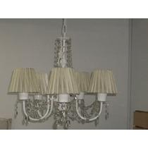 Araña De 5 Luces Con Caireles Lamparas Veladores Apliques