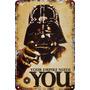 Carteles Antiguos Chapa Darth Vader Star Wars 60x40cm Fi-352