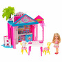 Chelsea Hermana Barbie Casa Casita + Tobogán Set Mattel