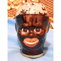 Antigua Caramelera Frasco Imagen De Negro Mulato Africano