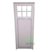 Puerta Aluminio Blanco 1/4 Repartido 90x200 As Abertura