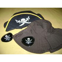 Lote De Gorros +2 Parches Pirata P/disfrazarse...cotillón.