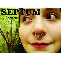 Septum Piercing Plata 925,una Joya -hecho A Mano (modelo Nº1