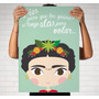 Cuadros Frida Kahlo - Moderno - Lámina Sobre Bastidor