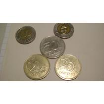 5 Monedas De Hungria Dos 100 Forint Bimetalica Dos 50 Forint