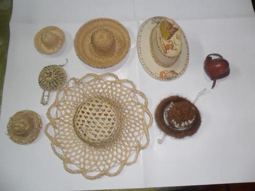 Sombrero Gorro Miniatura Cuero Lana Fibra Muñeca Crochet $99 b1pJx ...