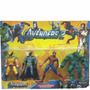 Super Heroes X 4 En Blister Batman Spiderman Wolverine Y Hul