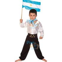 Disfraz De Gaucho Nene Fiestas Patrias Super Económico
