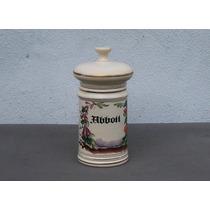 Historical*- Frasco Farmacia Abbott Porcelana Decorada-envío