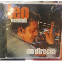 Cd Leo Mattioli En Directo Piel Con Piel