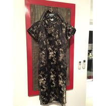 Kimono Bordado De Seda