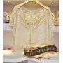 Delicada Blusa Encaje Y Crochet Importada Art.3106
