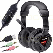 Auricular Microfono Genius Gamer Hs-g500v Vibracion Headset