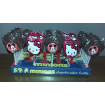 20 Chupetines De Chocolate Mickey Y/o Kitty En Blister