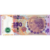 100 Pesos Evita - Serie A 00803617 - Reposición