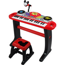 Teclado Electronico Mickey Mouse Con Silla Microfono Winfun