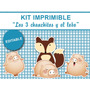 Kit Imprimible Editable Los 3 Chanchitos Y El Lobo, Golosina