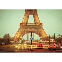 Cuadro Torre Eiffel Impreso En Canvas C/ Bastidor 114x80