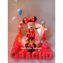 Minnie Mouse Adorno De Torta Con Nombre