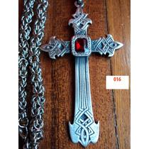 Cruz Cruces Dark Gotico Metal Con Cadena