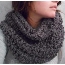 Bufanda Infinita Circular Tejido Crochet Y Miel