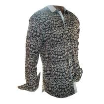 Camisa Algodón - Con Puño Y Cuello Estampado - Nuevas Oferta