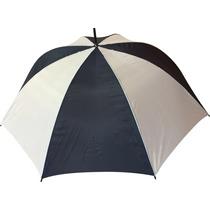 Paraguas Golf Grande Azul Oscuro Y Blanco Reforzado
