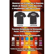 Remera Con El Logo De Tu Empresa, Comercio, Taller! Xxl