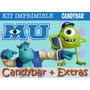 Kit Imprimible Monsters University - Candy Bar + Extras