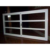 Ventana Aluminio Blanco Vidrio Repartido Horizontal 200x90