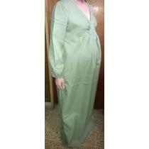 Vestido Vintage De Crepe Largo Futura Mamá/ Señora/ Gorditas